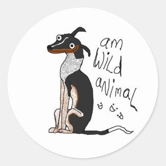 Am Wild Animal Classic Round Sticker
