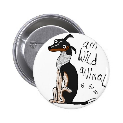Am Wild Animal Pinback Buttons