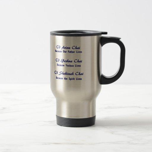 Am Yisrael Chai Tri-Unity Messianic Travel Mug v4