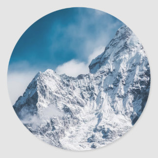 ama dablam Himalaya abstract mountains Classic Round Sticker