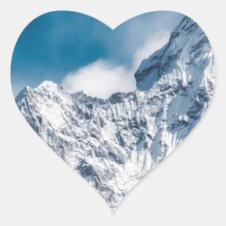 ama dablam Himalaya abstract mountains Heart Sticker