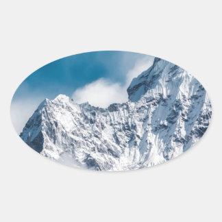 ama dablam Himalaya abstract mountains Oval Sticker