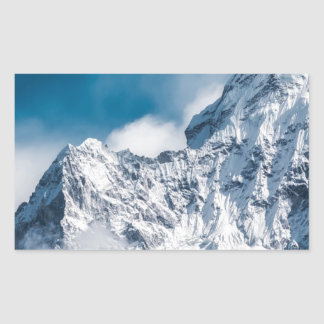 ama dablam Himalaya abstract mountains Rectangular Sticker