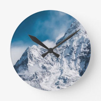 ama dablam Himalaya abstract mountains Round Clock