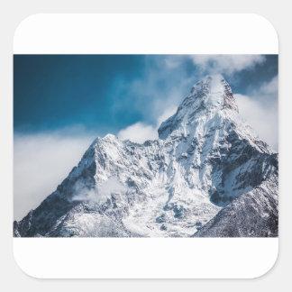 ama dablam Himalaya abstract mountains Square Sticker