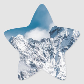 ama dablam Himalaya abstract mountains Star Sticker