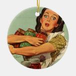 Ama de casa del vintage ornamento para arbol de navidad
