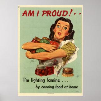Ama de casa del vintage posters