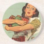 Ama de casa del vintage posavaso para bebida