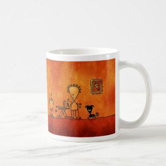 Ama de casa extranjera taza de café