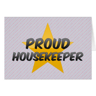 Ama de casa orgullosa felicitación