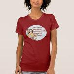 Ama de casa retra 8 de la camiseta del día de las