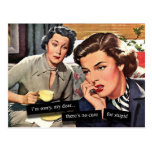 """Ama de casa retra de los años 50 """"ninguna curación postales"""