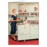 Ama de casa retra en cocina