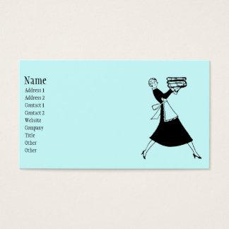 Ama de casa retra tarjeta de negocios