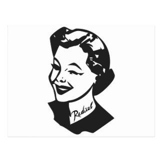 Ama de casa tatuada - radical tarjetas postales