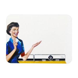 Ama de casa y nueva lavadora rectangle magnet