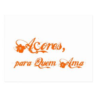 Ama del quem de para del é de Açores Tarjeta Postal
