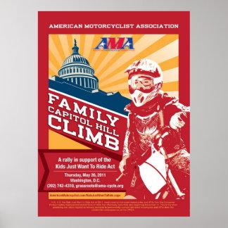 AMA Family Capitol Hill Climb Poster