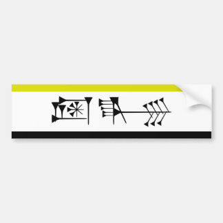 Ama-gi Sumarian Libertarian Freedom Flag Car Bumper Sticker