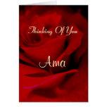 Ama Greeting Card