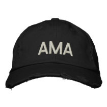 AMA (INITIALS) EMBROIDERED CUSTOMIZE EMBROIDERED BASEBALL HAT