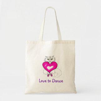 """""""Ama los gatos bailar    """"/del baile Bolsa De Mano"""