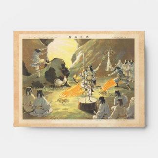 Ama No Ihaya dansing man japanese oriental art Envelope