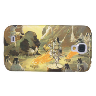 Ama No Ihaya dansing man japanese oriental art Galaxy S4 Case