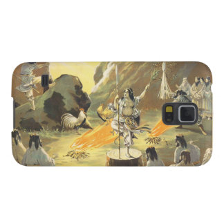 Ama No Ihaya dansing man japanese oriental art Galaxy S5 Case