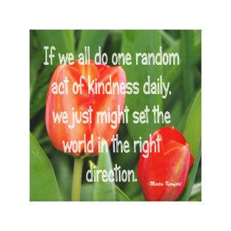 Amabilidad al azar impresiones en lona