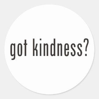 ¿amabilidad conseguida? pegatina redonda