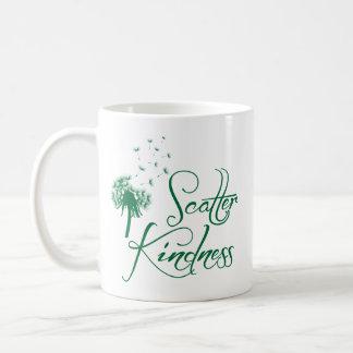 Amabilidad de la dispersión, verde taza de café