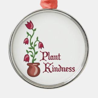 Amabilidad de la planta adorno navideño redondo de metal