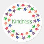 Amabilidad, pegatinas de la afirmación con las pegatinas redondas