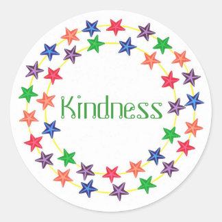 Amabilidad, pegatinas de la afirmación con las pegatina redonda