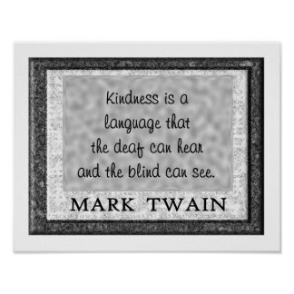 Amabilidad una lengua póster