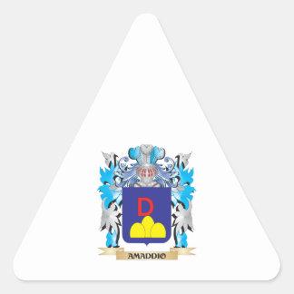 Amaddio Coat Of Arms Triangle Sticker
