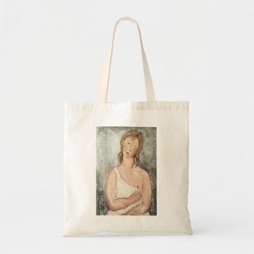 Amadeo_Modigliani - Mädchen 1918 Budget Tote Bag