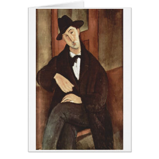 Amadeo Modigliani -Porträt des Mario Varfogli 1919 Card