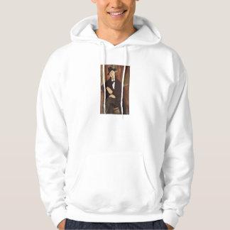 Amadeo Modigliani -Porträt des Mario Varfogli 1919 Hoodie