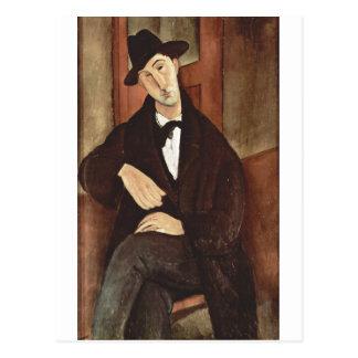 Amadeo Modigliani -Porträt des Mario Varfogli 1919 Postcard