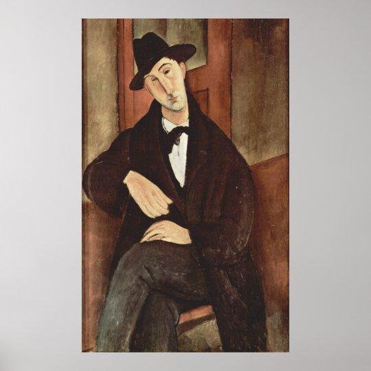 Amadeo Modigliani -Porträt des Mario Varfogli 1919 Poster