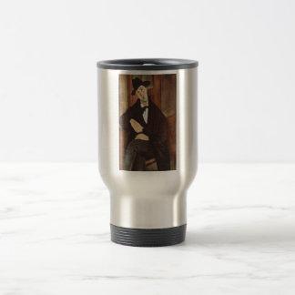 Amadeo Modigliani -Porträt des Mario Varfogli 1919 Travel Mug
