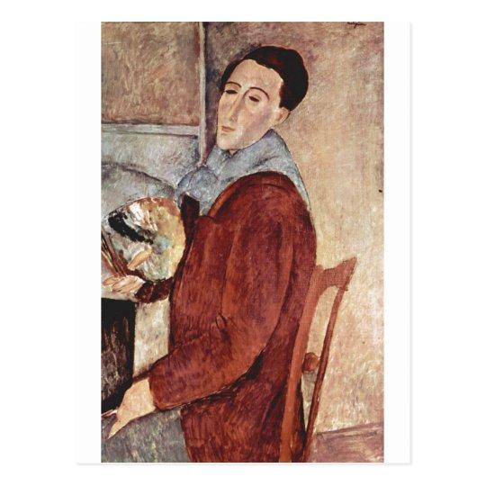Amadeo Modigliani - Self Portrait 1919 Oil Canvas Postcard