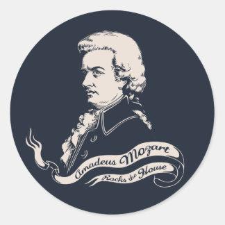 Amadeus Rocks the House Classic Round Sticker
