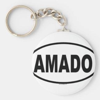AMADO BASIC ROUND BUTTON KEYCHAIN