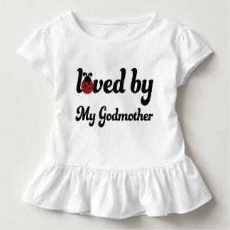 Amado por mi camiseta de las niñas pequeñas de la remera