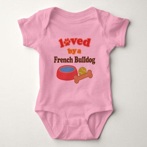 Amado por un dogo francés (raza del perro) body para bebé