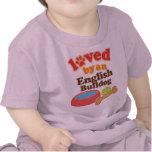Amado por un dogo inglés (raza del perro) camiseta